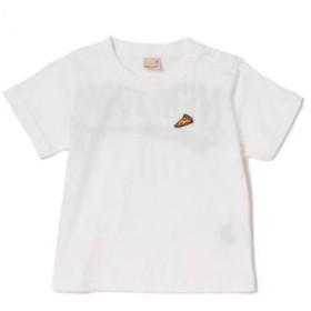 プティマイン/ワンポイント刺しゅう入りバックロゴプリントTシャツ