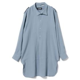 LOUIS GABRIEL NOUCHI / ミリタリーロングシャツ メンズ カジュアルシャツ LIGHT BLUE M