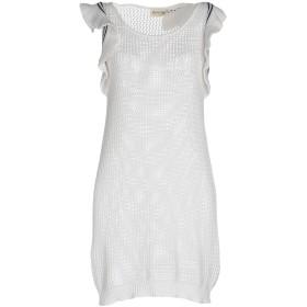 《セール開催中》ATOS ATOS LOMBARDINI レディース ミニワンピース&ドレス ホワイト 40 コットン 67% / ナイロン 33% / ポリエステル / ポリウレタン