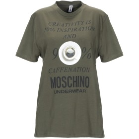 《期間限定セール開催中!》MOSCHINO レディース アンダーTシャツ ミリタリーグリーン S 92% コットン 8% ポリウレタン