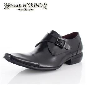 メンズ ビジネスシューズ Bump N GRIND バンプ アンド グラインド 靴  BG-6032 BLACK ブラック モンクストラップ 本革 紳士靴