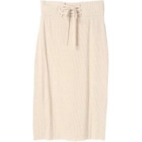 【5,000円以上お買物で送料無料】WEARSテレコレースアップスカート