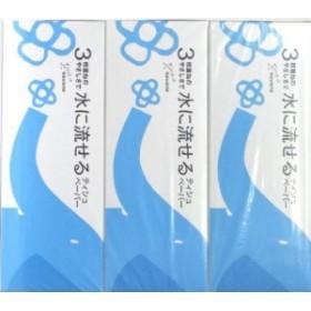河野製紙 水に流せる 3枚重ね ティシュ 3箱パック (ティッシュペーパー)(4901451163121)