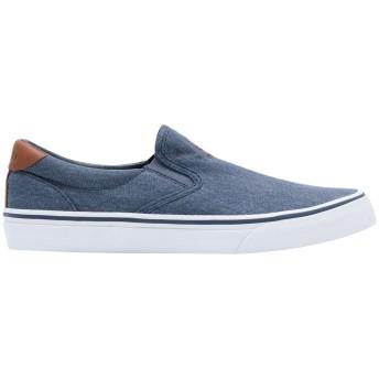 《期間限定セール開催中!》POLO RALPH LAUREN メンズ スニーカー&テニスシューズ(ローカット) ブルーグレー 43 紡績繊維 / 革 Thompson Washed Twill Sneaker