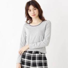[マルイ]【セール】ビジューネックロンT/ハッシュアッシュ(レディス)(HusHusH Ladies)