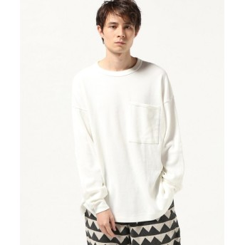 JOURNAL STANDARD GOLD / ゴールド : LIGHT THERMAL L/S BIG POCKET T-SHIRT ホワイト M