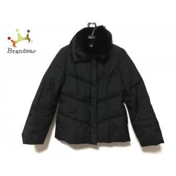 ニジュウサンク 23区 ダウンジャケット サイズ38 M レディース 美品 黒 冬物/ファー 値下げ 20190602