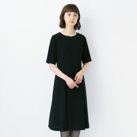 【喪服・礼服】日本製の洗える5分袖ブラックフォーマルワンピース