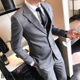3ピーススーツ ビジネススーツ 就活 スーツ3点セットアップ 結婚式 メンズ 二次会 スリム スリーピーススーツ通勤 紳士服 フォーマル 入