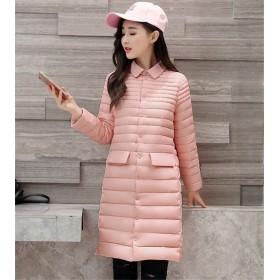 [55555SHOP]Fashions、2018新品 CHIC気質 韓国ファッション 防寒 大きいサイズ 暖かい 中・長セクション 綿入れダウンコート