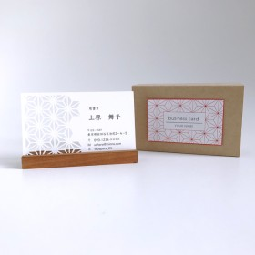 和柄切り絵のオーダー名刺[麻の葉/50枚~]