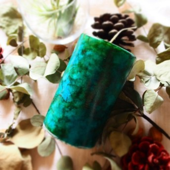 art soy candle 《 turquoise 》