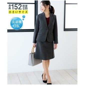 スーツ オフィス 小さいサイズ レディース 洗える定番セミフレア スカート P11〜P9 ニッセン