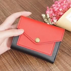 韓国ファッション 二つ折り財布 超軽い財布 薄い財布 送料無料 アースカラー二つ折り財布 小銭入れあり ミニ財布 レディース 女性用 極小財布