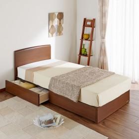 マットレス付き引出し収納すのこベッド(フランスベッド)