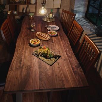 天然木ウォルナット材のダイニングテーブル