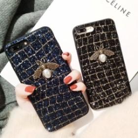 ★送料0★2色 キラキラ ゴージャス 蜂 iPhone 6 iPhone7 iPhone7ケース iPhone8 ケース iPhone x ケース iPhoneケース