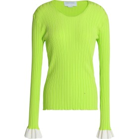 Esteban Cortazar Woman リブ編みニット トップス Lime Green Size XS