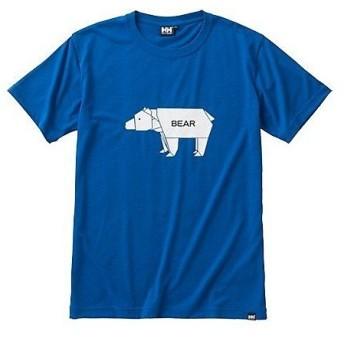 (セール)HELLY HANSEN(ヘリーハンセン)トレッキング アウトドア 半袖Tシャツ S/S ANIMAL CRAFT TEE HOE61605 メンズ FB