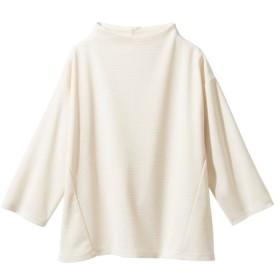 7分袖ボトルネックカットソートップス (大きいサイズレディース)Tシャツ・カットソー