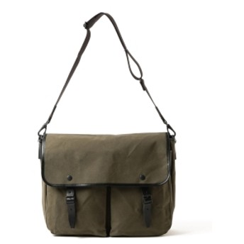 MARGARET HOWELL × PORTER / PARAFFIN WAXED COTTON SHOULDER BAG メンズ ショルダーバッグ OLIVE GREEN ONE SIZE