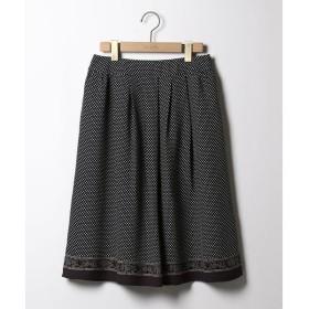 SCAPA / スキャパ ドットペイズリープリント スカート
