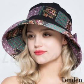 帽子 レディース つば広ハット きれいめ 花柄 日焼け対策 UVカット ワイドハット ハット 可愛い アウトドア 綿 紫外線対策 旅行 キャップ