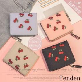 三つ折りミニ財布 可愛い 花カットワーク サイフ おしゃれ ギフト シンプル 7色お選び カード入れ ファッション プレゼント お札入れ