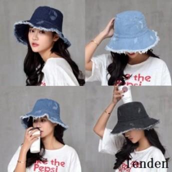 帽子 デニム レディース UVカット帽子 ハット 折りたたみ UVカット おしゃれ レディース帽子 つば広ハット サファリハット つば広 紫外線