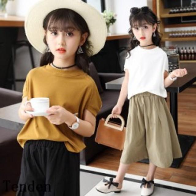 3a7ad2ad3bd64 セットアップ 上下セット 女の子 ハーフパンツ 半袖 カットソー ショットパンツ 子供服 tシャツ ジュニア キッズ