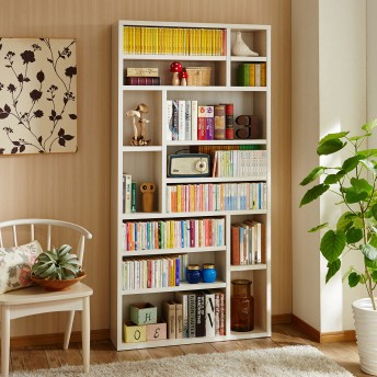 【国産】頑丈棚板の超薄型ディスプレイ本棚
