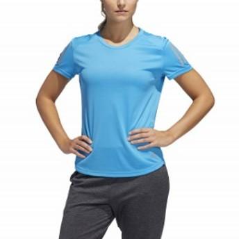 アディダス レディース 陸上/ランニング 半袖Tシャツ RESPONSE T シャツW (FRQ07 DQ2623) : ブルー adidas