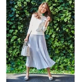 S size ONWARD(小さいサイズ) / エスサイズオンワード 【洗える】グラデーションサテンプリーツ スカート