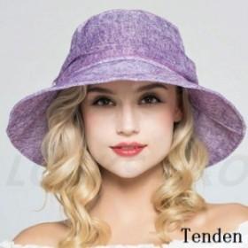 帽子 レディース ワイドハット キャップ ママ 紫外線対策 綿 無地 日焼け対策 UVカット ハット 上品 つば広ハット アウトドア オシャレ