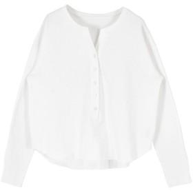 ティティベイト titivate ヘンリーネック長袖Tシャツ (ホワイト)