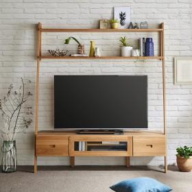 オーク材の壁面テレビ台