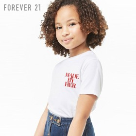 FOREVER21 フォーエバー21 【[KIDS]Made By HerロゴTシャツ】(5,000円以上購入で送料無料)