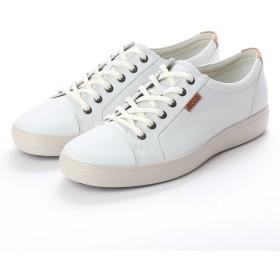 エコー ECCO Soft 7 M Sneaker (WHITE/WITH GRAVEL OUTSOLE)