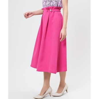 ef-de L / エフデ(エルサイズ) 《大きいサイズ》サイドボタンフレアスカート