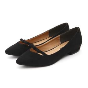 【公式/NATURAL BEAUTY BASIC】スレンダーリボンフラット/女性/靴・パンプス/クロスエード/サイズ:M/
