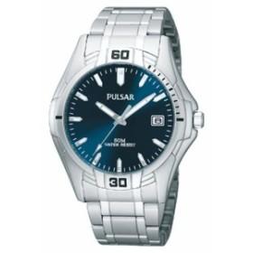 【当店1年保証】パルサーPulsar Blue Dial Stainless Steel Mens Watch PXH917