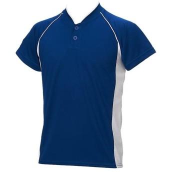 アシックス(asics) ジュニア 野球ウェア ベースボールシャツ ロイヤル×ホワイト BAD11J 4301 男の子 女の子 半袖 Tシャツ キッズ 部活 少年野球