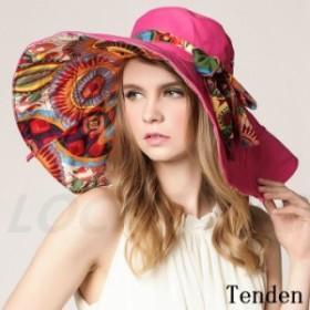 帽子 レディース ワイドハット オシャレ 折りたたみ 紫外線対策 花柄 キャップ 日焼け対策 UV帽子 旅行 日除け ハット UVカット 春 きれ