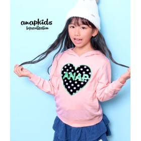 ANAP KIDS ボアアップリケパーカー キッズ