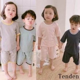 子どもパジャマ 男の子女の子 子供パジャマ ユニセックス 夏用 半袖 寝間着 上下セット ナイトウェア 可愛い 部屋着 ハーフパンツ ルーム