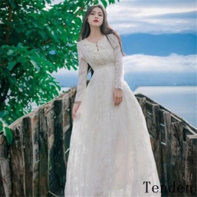e739fffaf9882 マキシワンピ マキシワンピース ドレス ワンピース 白 結婚式 レディース ロング 長袖マキシ丈 ホワイト