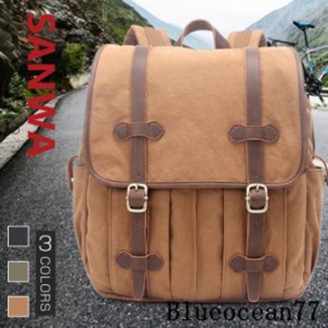 605e1ab417 キャンバス リュックサック メンズ デイパック 通勤 大容量 メンズバック 旅行 鞄 帆布バッグ バックパック