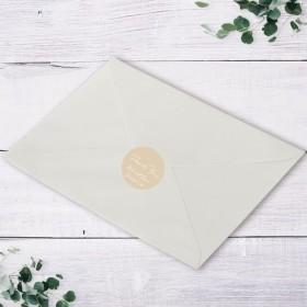 Thankyouシール ウェディング シール 封緘シール 名入れ 招待状 10枚から wedding seal0028