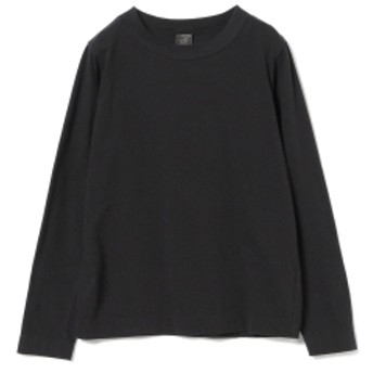 <WOMEN> homspun / ロングスリーブ Tシャツ レディース Tシャツ BLACK M