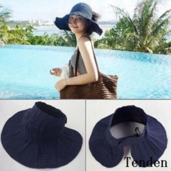 帽子 レディース UVカット レディース帽子 大きいサイズ UVカット帽子 つば広 おしゃれ 春夏 折りたたみ サイズ調整可 紫外線カット サフ
